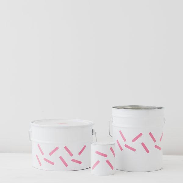 Contenedores de metal – grandes cápsulas rosas – Liderlamp