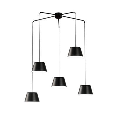 Lámpara colgante Dona - Metal negro - Candelabro - Liderlamp (2)