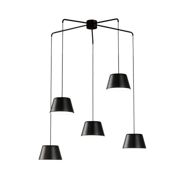 Lámpara colgante Dona – Metal negro – Candelabro – Liderlamp (2)