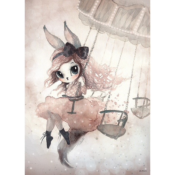 Lamina Miss Penny – Ilustracion infantil – decoracion – Liderlamp (5)
