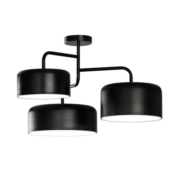 Lampara Tono – tres luces – metal negro – Liderlamp (2)