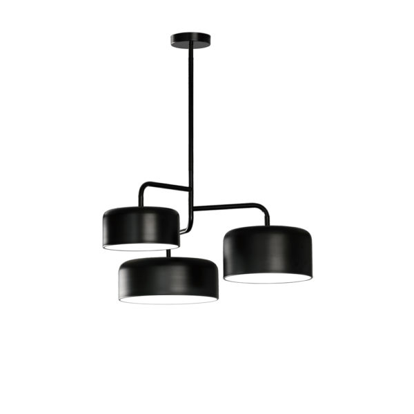 Lampara Tono – tres luces – metal negro – Liderlamp (3)