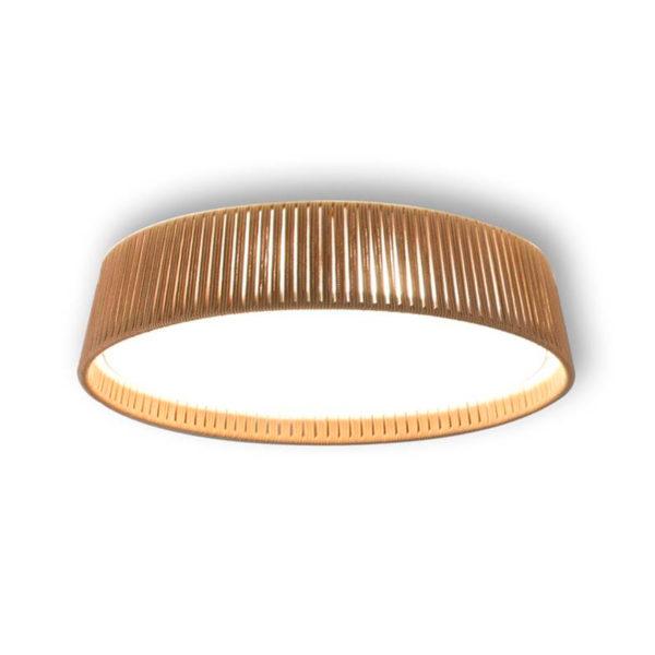Plafon Drum – artesanas – pantalla de cuerda – Liderlamp (1)