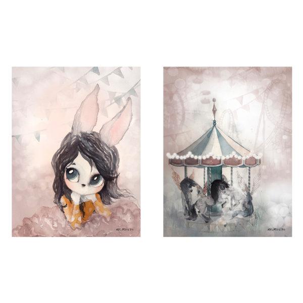 Set de laminas – Lola – Lost Carousel – Ilustracion – Liderlamp (6)