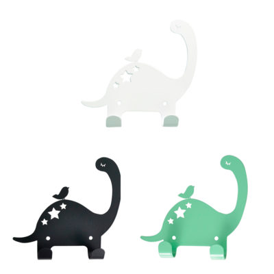 Colgador Dino - metal - blanco, negro, mint - Land of Kids - Liderlamp
