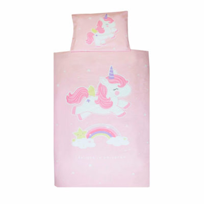 Funda nórdica de unicornio rosa - A Little Lovely Company - Liderlamp