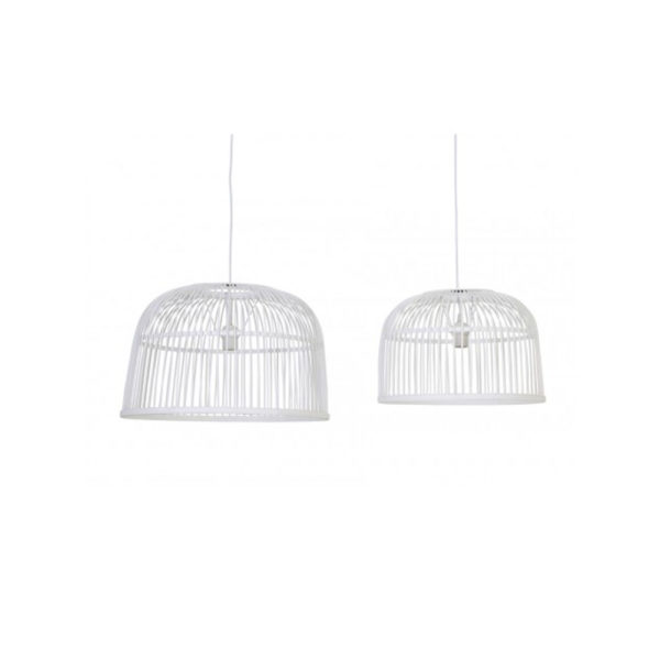 Lampara colgante Birdcage – madera natural – torneada – Liderlamp