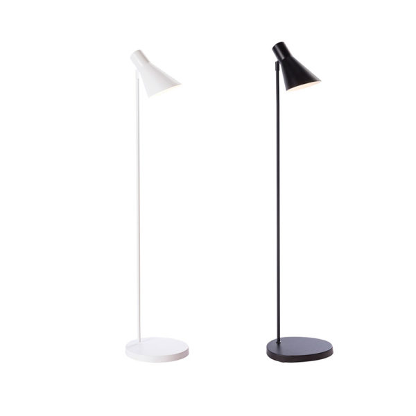 Pie de salon Project – metal – blanco y negro- Liderlamp