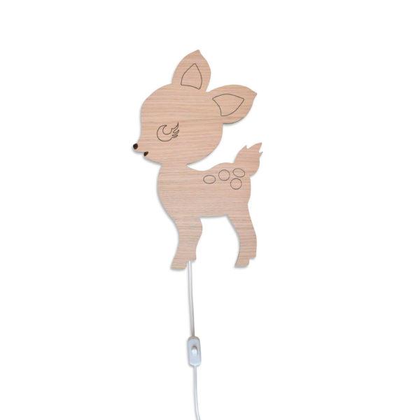 Aplique de madera – Bambi – Decoración infantil – Maseliving – Liderlamp (4)