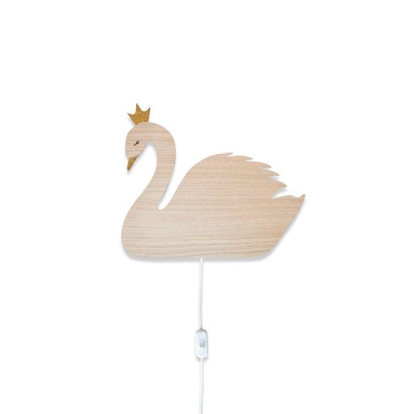 Aplique de madera – cisne – Decoración infantil – Maseliving – Liderlamp (1)