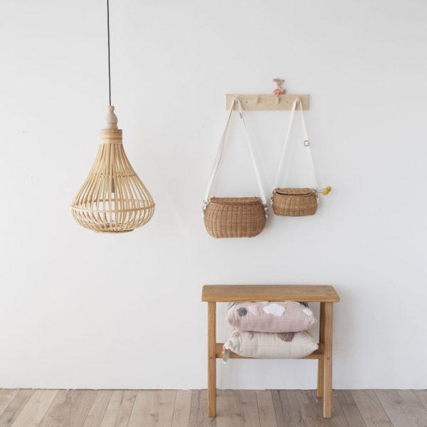 Colgante Amsfield gota – madera natural trenzada – Eglo (2)