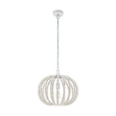 Colgante Barrhill esfera - cuentas de madera - acabado en blanco - Eglo - Liderlamp (1)