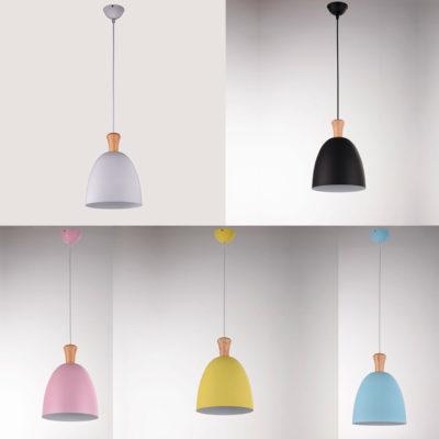 Lampara colgante Boid - aluminio y madera - Gyemo - Liderlamp (2)