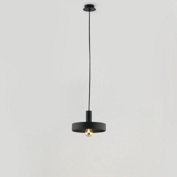 Colgante Aloa - estilo mid century - industrial - negro y dorado (2)