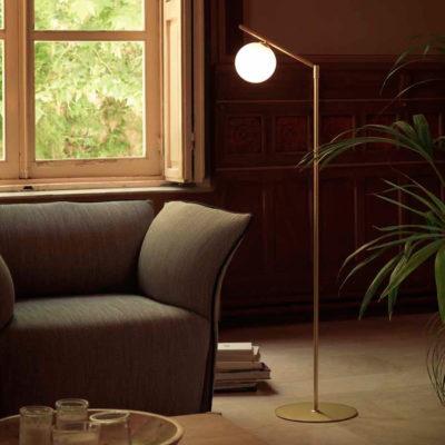 Pie de salón Endo - color latón - retro - lámpara estilo mid century