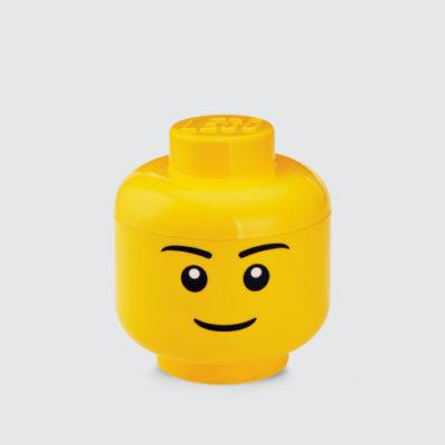 Cabeza LEGO boy - almacenaje - habitación infantil - juguetero