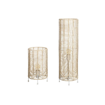 Sobremesa Riad - lámpara de ratán - decoración natural chic