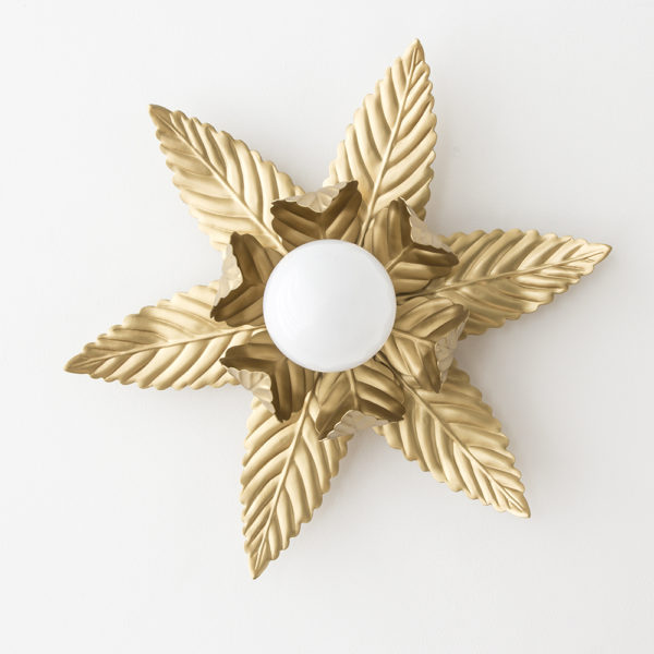 Aplique Luminosa – blanco roto – oro – midcentury – flor – Liderlamp (2)