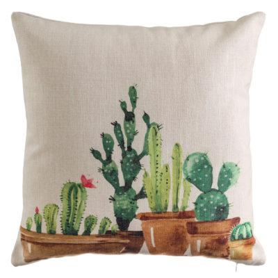 Cojín Cactus Jardín - Decoración - Textil - Ilustración - Ixia