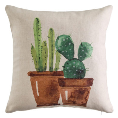 Cojin Cactus Macetas - Decoracion - Textil - Ilustracion - Ixia (1)