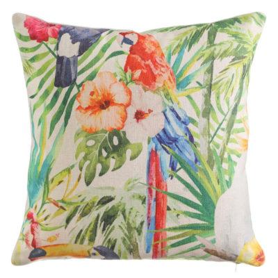 Cojín Tropical - Decoración - Textil - Ilustración - Ixia