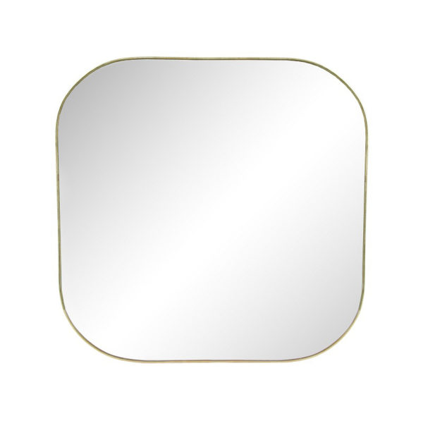 Espejo Gold Square – borde dorado – decoracion de pared – Klevering – Liderlamp