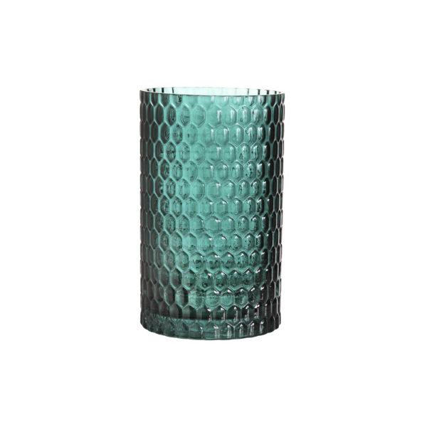 Jarron 70s Dark Green – diseno retro – Kleveling – cristal verde oscuro