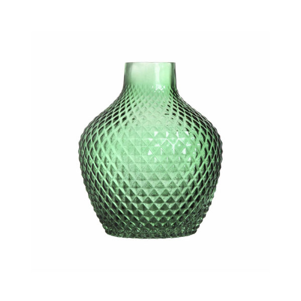 Jarron 70s Pink – diseno retro – Kleveling – cristal verde – Liderlamp