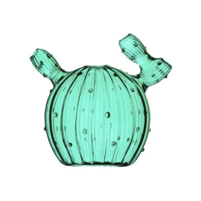 Jarron Cactus Dark Green - cristal verde - Klevering - Liderlamp