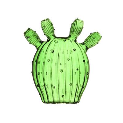 Jarron Cactus Olive Green- cristal verde - Klevering - Liderlamp