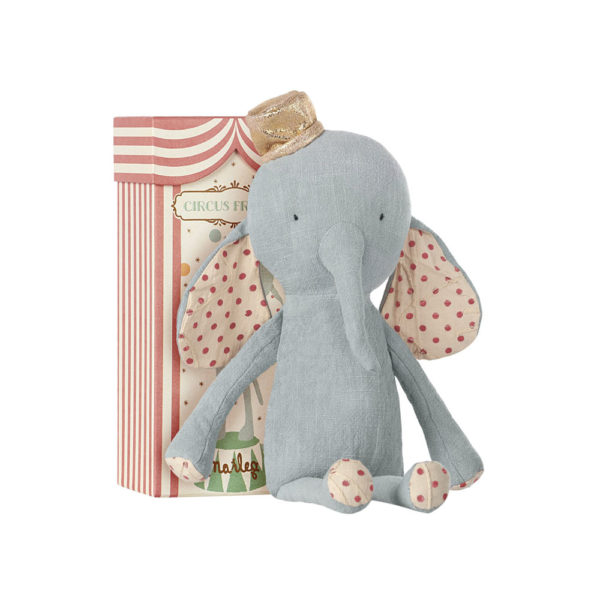 Circus Friends – Elefante azul con sombrero – Maileg – Liderlamp