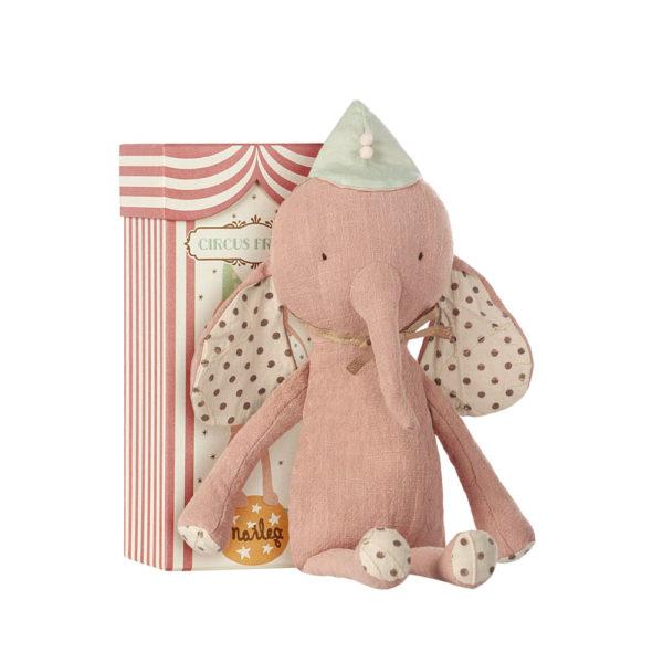 Circus Friends – Elefante rosa con sombrero – Maileg – Liderlamp (2)