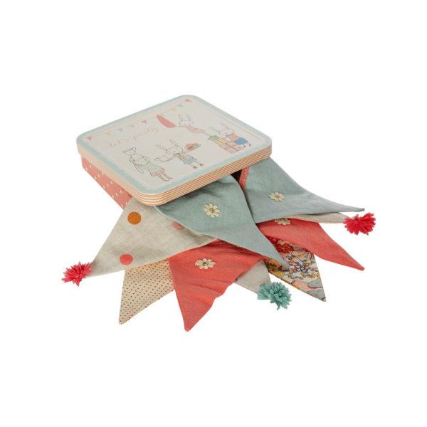 Guirnalda en caja de metal – Maileg – Decoracion infantil – Liderlamp