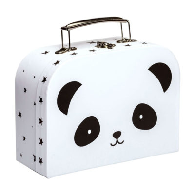 Maletin panda- carton reciclado - ilustracion - A Little Lovely Company - Liderlamp (1)