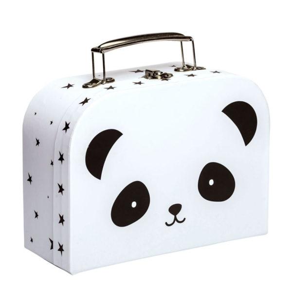 Maletin panda- carton reciclado – ilustracion – A Little Lovely Company – Liderlamp (1)