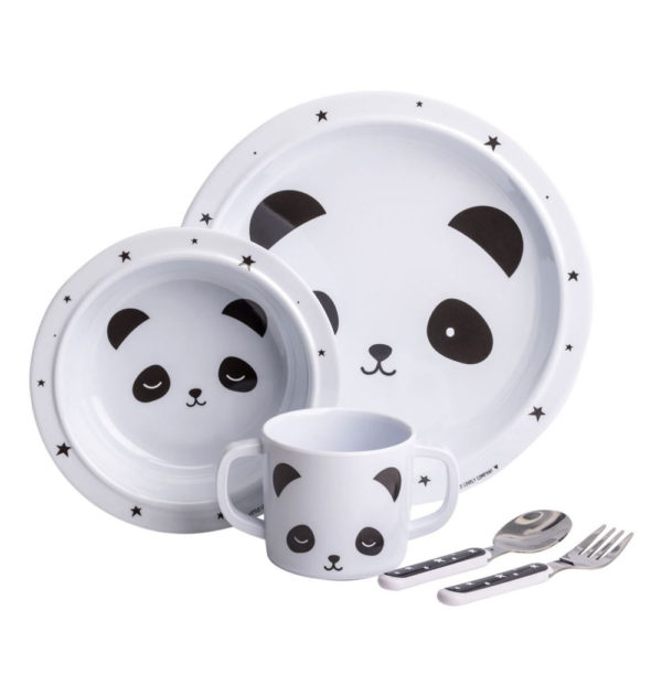 Mini vajilla - panda - Dinner Set - A Little Lovely Company - Liderlamp (1)