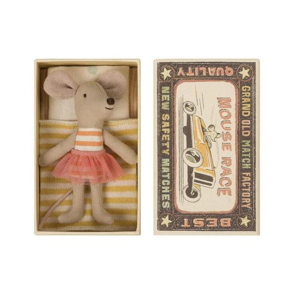 Ratón – Little sister – Caja de cerillas – Maileg – decoración infantil
