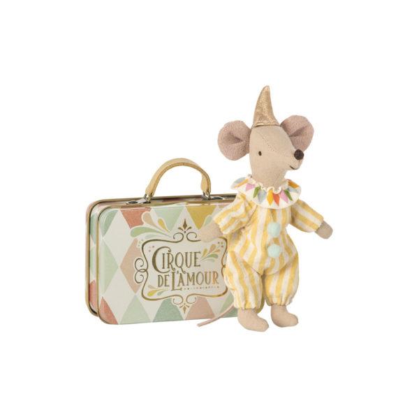 Raton payaso con maleta – Maileg – decoracion infantil – Liderlamp