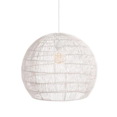 Colgante Piccard - ratan y metal - Ixia - lampara esferica - Liderlamp (2)