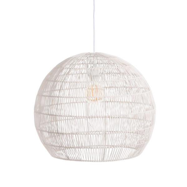 Colgante Piccard – ratan y metal – Ixia – lampara esferica – Liderlamp (2)