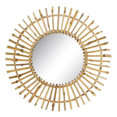 Espejo Bambu natural - natural chic - Ixia - espejo geometrico
