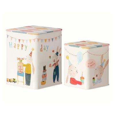 Happy Day boxes - Maileg - Decoracion infantil - cajas metal - cumpleanos - Liderlamp