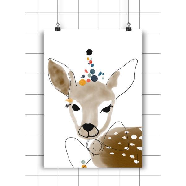 Lamina Astrid – Amayadeeme – ilustracion – decoracion infantil – Liderlamp