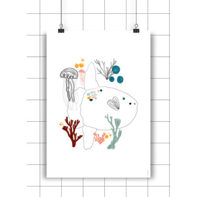 Lamina Gelatina & Luna - Amayadeeme - ilustracion - decoracion infantil - Liderlamp