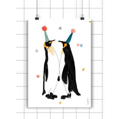Lamina Teo & Leo - Amayadeeme - ilustracion - decoracion infantil - Liderlamp