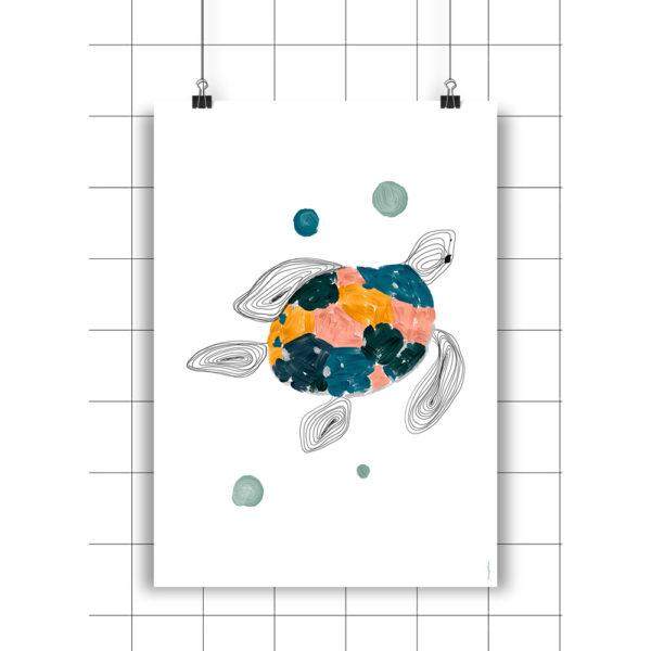 Lamina Tortuga – Amayadeeme – ilustracion – decoracion infantil – Liderlamp