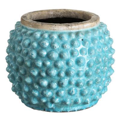 Macetero cerámica Lizar - Turquesa - Ixia - Tendencia Botánica