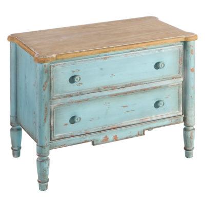 Mueble auxiliar - 2 cajones - ixia - estilo clásico - madera -