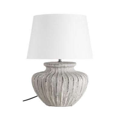 Sobremesa Grao - Ixia Mediterraneo - Ceramica - Blanco rozado - Liderlamp (2)