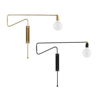Aplique Swing - Grande - dorado - lampara industrial - House Doctor - Liderlamp